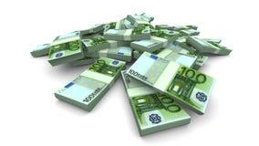 Dalende Euro Realistische Pakken - stock illustratie