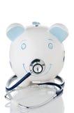 Dalende gezondheid van besparingen in een verontruste economie Stock Foto's