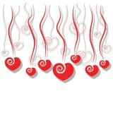 Dalende hartdecoratie royalty-vrije illustratie
