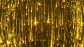 Dalende heldere deeltjes Starfall op een donkere achtergrond met glanzende en gloeiende asterisken looped royalty-vrije illustratie