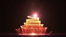 Dalende Kerstmisboom rode HD royalty-vrije illustratie