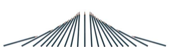 Dalende potloden Royalty-vrije Stock Afbeeldingen