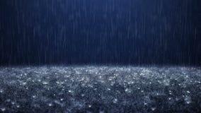 Dalende regendalingen stock video