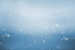 Dalende sneeuwachtergrond Stock Foto