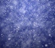 Dalende sneeuwvlokken Stock Foto's