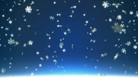 Falling snowflakes Stock Footage