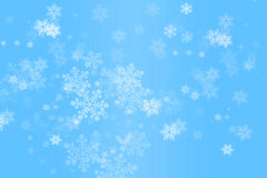 Dalende Sneeuwvlokken Royalty-vrije Stock Foto's