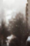 Dalende sneeuwvlokken in de winter royalty-vrije stock afbeeldingen