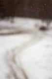 Dalende sneeuwvlokken in de winter stock foto's