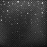Dalende Sneeuwvlokken op Gray Background De sneeuw van Kerstmis sneeuwval De winter komt Vector illustratie royalty-vrije illustratie