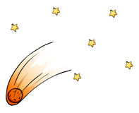 dalende sterren van de hemel stock illustratie