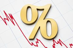Dalende tarieven Stock Foto's
