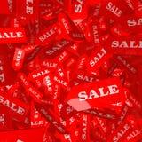 Dalende verkoopmarkeringen Stock Fotografie