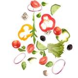 Dalende verse groente Stock Fotografie