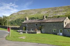 Dales cottage. Stone cottage near Reeth, Yorkshire Dales National Park, England Stock Images