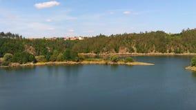 Dalesice sjö i Tjeckien arkivbilder