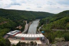 Dalesice wodna elektrownia na Jihlava rzece Zdjęcia Royalty Free