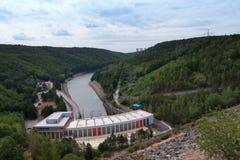 Dalesice wodna elektrownia na Jihlava rzece Obraz Stock