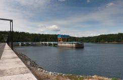 Dalesice wodna elektrownia na Jihlava rzece Zdjęcie Royalty Free