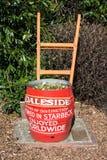Daleside啤酒厂桶广告 库存照片