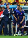 Daley Blind , Louis van Gaal and Robin van Persie Coupe du monde 2014 Royalty Free Stock Photos