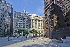 Daley-Piazza in Chicago stockbilder