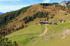 The Dalfazalm Alpine pasture in Austria Stock Photos