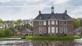 DALFSEN,荷兰, - 2015年5月03日:中世纪庄园房子Dalfse 库存照片