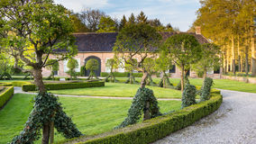 DALFSEN,荷兰, - 2015年5月01日:中世纪庄园房子Dalfsen 免版税库存照片