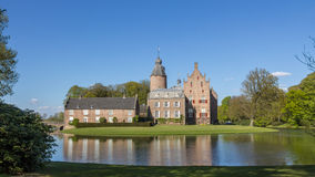 DALFSEN, NETHERLANDS, - May 02, 2015: Medieval Castle Rechteren i Stock Photography