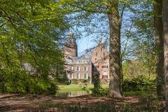 DALFSEN, NETHERLANDS, - May 02, 2015: Medieval Castle Rechteren i Royalty Free Stock Images