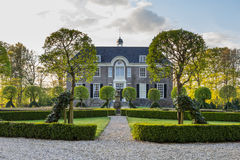 DALFSEN, NETHERLANDS, - May 03, 2015: Medieval estate house Dalfse Stock Images