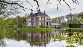 DALFSEN, NETHERLANDS, - May 03, 2015: Medieval estate house Royalty Free Stock Photo