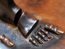 Dali распределило скульптуру ноги, Фигерас Стоковые Изображения RF