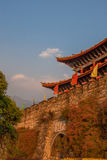 Dali ancient city gate tower. City gate tower in Dali ancient city Yunnan province,China Royalty Free Stock Image