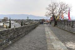 Dali, China - 18 de março de 2017: Paredes antigas que sorrounding a cidade velha de Dali em Yunnan, o reino antigo de Nanzhao Fotos de Stock Royalty Free
