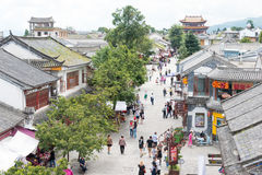 DALI, CHINE - 31 août 2014 : Dali Old Town un point de repère célèbre dans t Image libre de droits