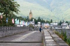 DALI, CHINE - 31 août 2014 : Mur de ville chez Dali Old Town un célèbre Photo stock