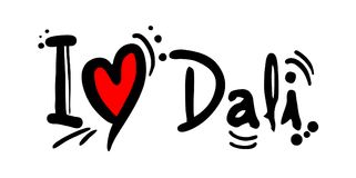 Dali city of China love message Stock Image