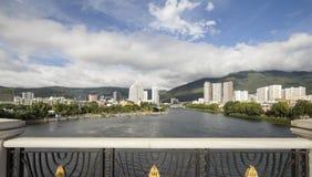 Dali city view from XingShen Bridge ,Yunnan China Royalty Free Stock Photography