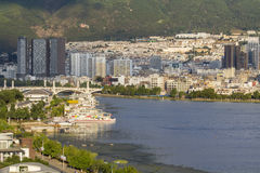Dali city (Xiaguan) on erhai lake ,Yunnan China. Stock Images