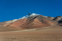 Dali desert in national reserve park Eduardo Avaroa, Bolivia.  Royalty Free Stock Photography