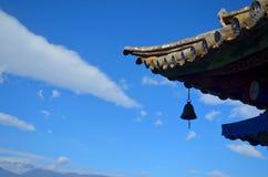Dali erhai湖寺庙檐口 免版税库存图片