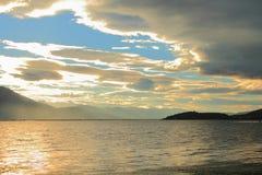 Dali Erhai Lake sunset Stock Image