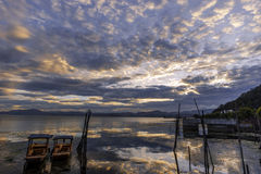Dali Erhai Yunnan大理海海. In the ancient literature of Erhai Lake has said Ye Yuze, Kun Mi Chuan, Xi'er River, West Second River etc., located in the suburb Royalty Free Stock Photography