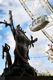 Dali and the London Eye Stock Photo