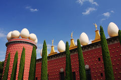 Dali museum. The surreal exterior of the Dali museum in Figueras, Spain stock images