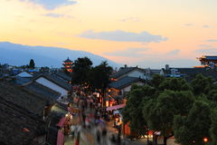 Dali old city. City gate tower in Dali ancient city ,Dali Old City located in Yunnan Province china.The picture is the south gate of Dali old city Stock Photo