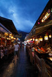 Dali old town Street Night scene Royalty Free Stock Photos