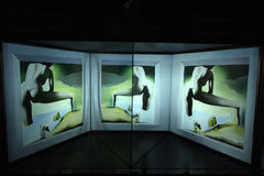 Dali's Museum in Figueres, Spain. Stereoscopic painting Lifting the Skin of the Mediterranean Sea to Show Gala the Birth of Venus by Salvador Dali in Dali's Royalty Free Stock Photos